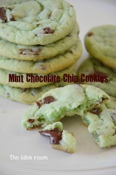 Mint Chocolate Chip Cookie Recipe via Amy Huntley (The Idea Room)
