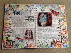 Dave White artist research page GCSE ART artist research page Art Journal Pages, Art Pages, Artist Research Page, Kunst Portfolio, Portfolio Layout, Dave White, Gcse Art Sketchbook, Sketchbooks, A Level Art Sketchbook Layout