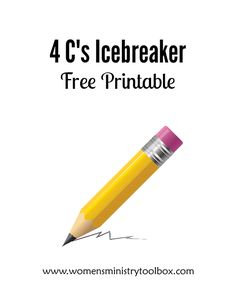 The 4 C's icebreaker game is easy to use and provides several points of connection for your group. Includes a free printable and complete instructions.