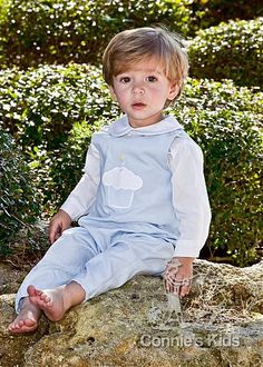 Boys Blue Cupcake Coverall by Bailey Boys. $59.99
