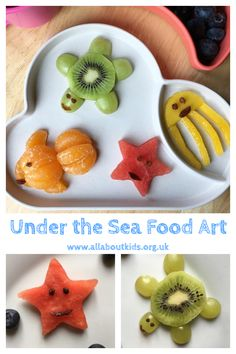 Sea Party Food, Sea Food, Party Snacks, 3rd Birthday Parties, Birthday Bash, Birthday Ideas, Fish Crafts Kids, Food Art For Kids, Moana Party