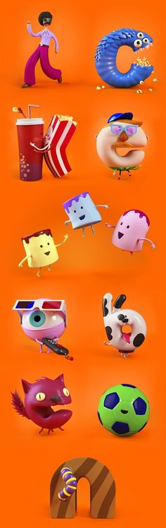 Graphics Studio Creates Cute Alphabet Cartoon Characters For Nickelodeon Channel - DesignTAXI.com