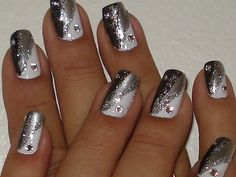 interesting and beautiful decorations for nails silver