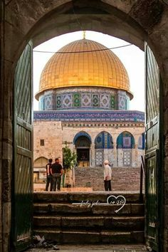 The Rock of Dome Mosque - Palestine