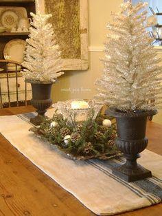 Christmas Table Decor (minus the big trees for me.)