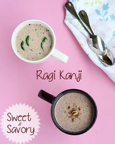 Sweet and Savory versions of Ragi