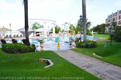 """The pool area at the Dutch Village. It's known as the """"quiet pool"""""""