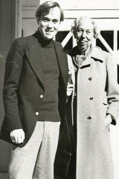 Reynolds Price and Eudora Welty at the University of Mississippi in 1979. Image courtesy of Duke Magazine