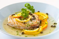 [I love citrus & fish together!] Fish with Citrus Caper Sauce from @Jaden Hair