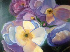 #purpleflowers#flowers#peonies#floral#canvasandoil#oilart#paintings