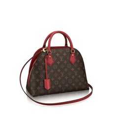 "Smart ""bag-into-bag"" design updates the timeless Louis Vuitton Alma with a modern twist. Crafted in the Monogram canvas with colorful leather, its bold looks convey confident style. Elegant and functional too."