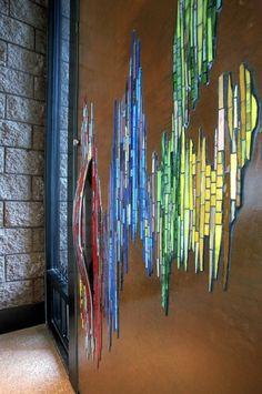 custom mosaic front door by Aureleo Rosano