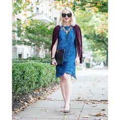 Burgundy and blue, today on Poor Little It Girl! www.poorlittleitgirl.com | Shop the look he... @liketoknow.it www.liketk.it/20b72 #liketkit