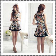 Dress แฟชั่น สไตล์เกาหลี งานแพทเทิร์น