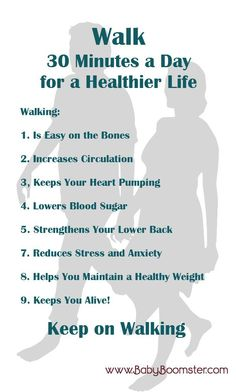 8 Reasons Walking Daily for 30 Minutes Will Add Years to Your Life - Fitness and Exercises Health Benefits Of Walking, Walking For Health, Walking Exercise, Fitness Diet, Fitness Motivation, Health Fitness, Female Fitness, How To Stay Healthy, Healthy Life