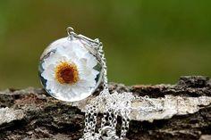 Resin Flower Necklace Resin Jewelry Pendant Resin Jewellery