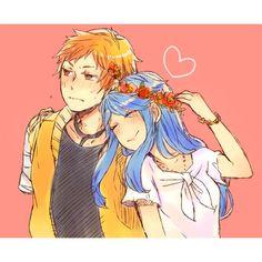 Petunia x Handy Friend Anime, Happy Tree Friends, Anime Version, Petunias, Creepy, Artsy, Fandoms, Fan Art, Cartoon