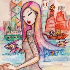 Hello Hong Kong! I landed in my beloved city! Wish you all a wonderful weekend! @tokidokibrand #tokidoki #hongkong #hgk #kawaii #design #art #popculture #illustration #watercolor #popart #asiangirl #tattoo #makeup #dragon #cute #asianmodel #asia #asian