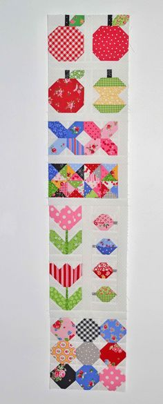 Quilty Fun sampler blocks by Grey Dogwood Studio. Pattern by Lori Holt of Bee In My Bonnet and fabric by Pam Kitty Morning.