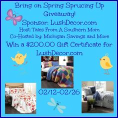 $200 Lush Decor Gift Certificate Giveaway ~ Ends 2/26 - mama pure