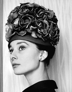 Audrey Hepburn photographed by Cecil Beaton in her suite at the Hotel Hassler in Rome, Italy, 1960