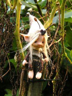 sweet fairy fairie bug posable ooak by throughthemagicdoor on Etsy