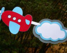 Guirnalda fiesta de avión bebé ducha fiesta por BlueOakCreations