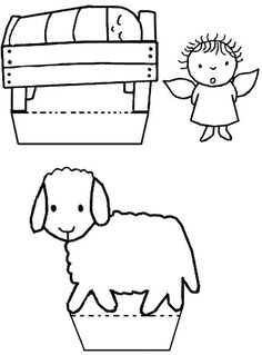 Craft ideas for children, around the theme of Christmas. Crafts for Christmas and more … – Knippen Nativity Clipart, Nativity Crafts, Christmas Nativity, Kids Christmas, Christmas Activities For Kids, Christmas Printables, Bible Crafts, Kids Church, Colouring Pages