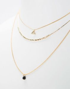 Bershka Turkey - Beads necklaces (set of 3)