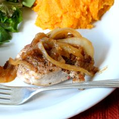 Pork Medallions with Sweet Onion Topping
