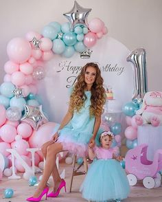 1st Birthday Dresses, 1st Birthday Party For Girls, Girl Birthday Themes, Birthday Photos, Birthday Parties, Baby Party, 30th Birthday, Mommy And Me Dresses, Mother Daughter Dresses Matching