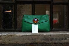 Anna Pugh Green AVA bag SS13 http://annapugh.co.uk/