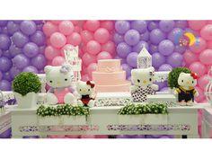 Decoração infantil provençal Hello Kitty  * Decoração de festa infantil
