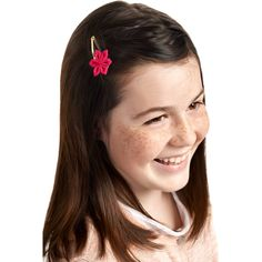 Barrette clic-clac fleur étoile rouge Barrettes, Thin Highlights, Lock Of Hair, Headband Hair, Flower, Red