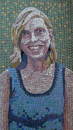 Caroline by Ilona Brustad                #portrait #mosaic #art