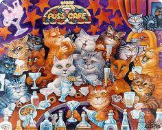 Ярчайшая подборка рисунков кошек от Bill Bell !