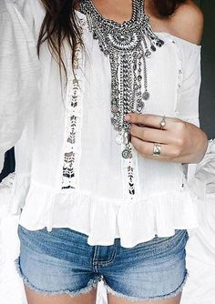 Boho Bohemian Statement Necklace #fashion #style #outfit #silver #statementnecklace - 24,90  @happinessboutique.com