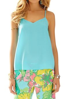 Lilly Pulitzer Dusk Racer Back Tank Top in Shorely Blue & Cambridge Palazzo Pant in Big Flirt