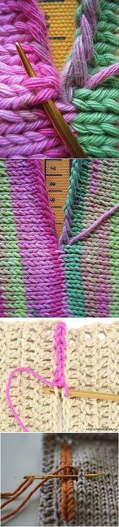 Points de suture et autres astuces de tricot. Швы и другие вязальные хитрости. Points de suture et autres astuces de tricot. Lace Knitting Patterns, Knitting Charts, Loom Knitting, Knitting Socks, Knitting Stitches, Knitting Needles, Hand Knitting, Stitch Patterns, Tear