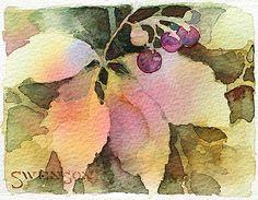 Dillman's Creative Art Workshops - 2014 - Brenda Swenson - Negative Painting with Watercolors