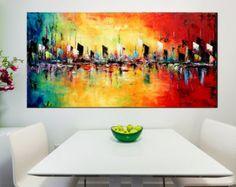 ORIGINAL ExtraLarge abstrait peinture par ModernArtHomeDecor