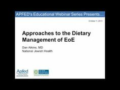 ▶ Approaches to the Dietary Management of EoE (Webinar Recording) - YouTube