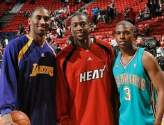 Kobe Bryant, Dwayne Wade, and Chris Paul