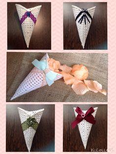 Handmade bespoke confetti cones from Lilly Dilly's Handmade Accessories, Wedding Accessories, Confetti Cones, Mood Boards, Bespoke, Luxury, Unique, Decor, Decoration