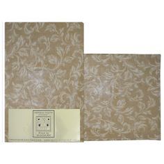 Traditional and modern feel Royal Oak kitchen table cloth and place mats with an overall leaf scroll design with muted tone on tone coloration. Available in nickel and gold. Scroll Design, Royal Oak, Place Mats, Bath Accessories, Bedding Collections, Traditional, Modern, Kitchen, Table