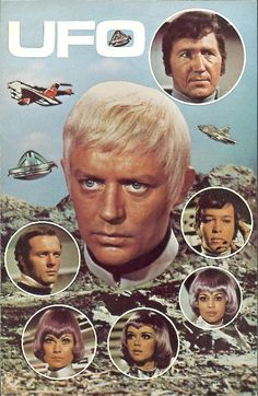 UFO Promotional Card: Here is a 104 x 147 mm UFO promotional card (looks like an oversized postcard) that ITC produced when UFO was first broadcast. Pulp Fiction, Science Fiction, Sci Fi Tv Shows, Old Tv Shows, Photo Vintage, Vintage Tv, Tv Sendungen, Mejores Series Tv, Ufo Tv Series