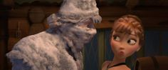 "Fearless optimist Anna meets rugged—and snow-covered—mountain man Kristoff for the first time in Walt Disney Animation Studio's ""Frozen."""