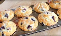 Healthy Dessert Recipes, Vegan Desserts, Easy Desserts, Muffin Bread, Breakfast Muffins, Healthy Muffins, Blue Berry Muffins, Cupcake Cookies, Cupcakes