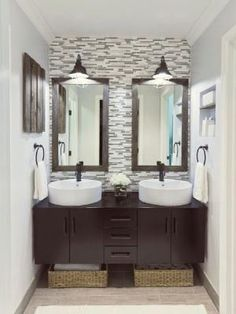 love the one wall with all tile. love the colors. by victoria