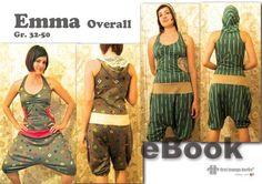 Röcke & Hosen - Emma♥ Overall eBook Nähanleitung Schnittmuster Top - ein Designerstück von firstloungeberlin bei DaWanda